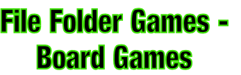 File Folder Games -